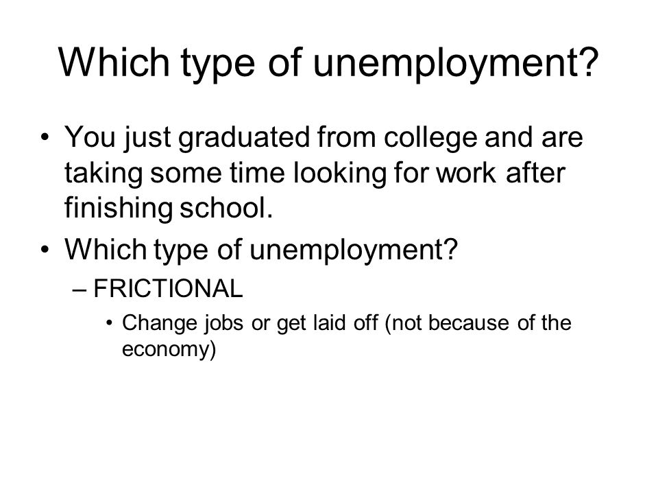 Which type of unemployment