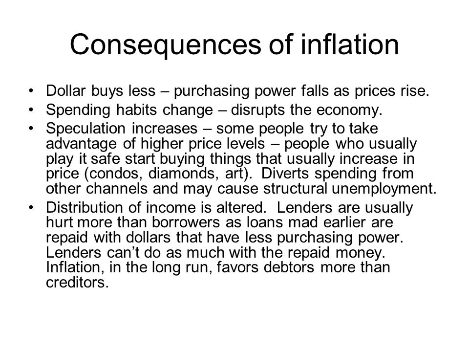 Consequences of inflation