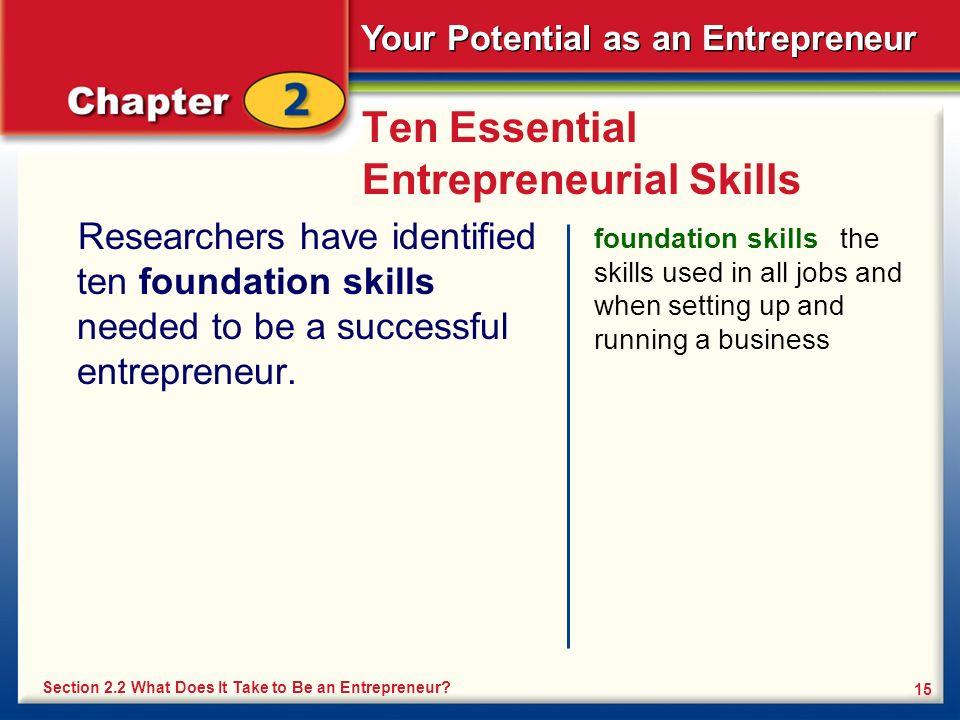 Ten Essential Entrepreneurial Skills