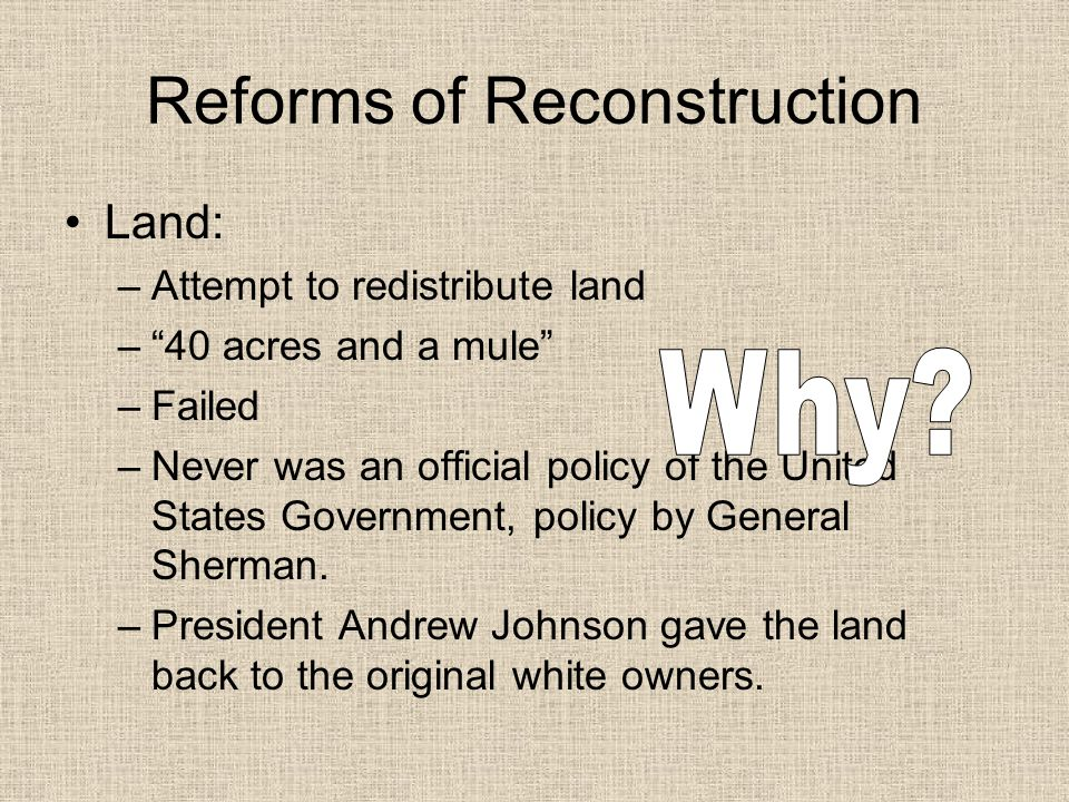 Reforms of Reconstruction