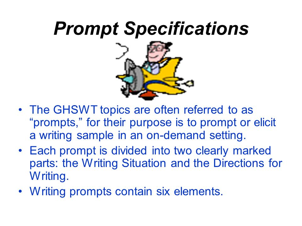 Prompt Specifications