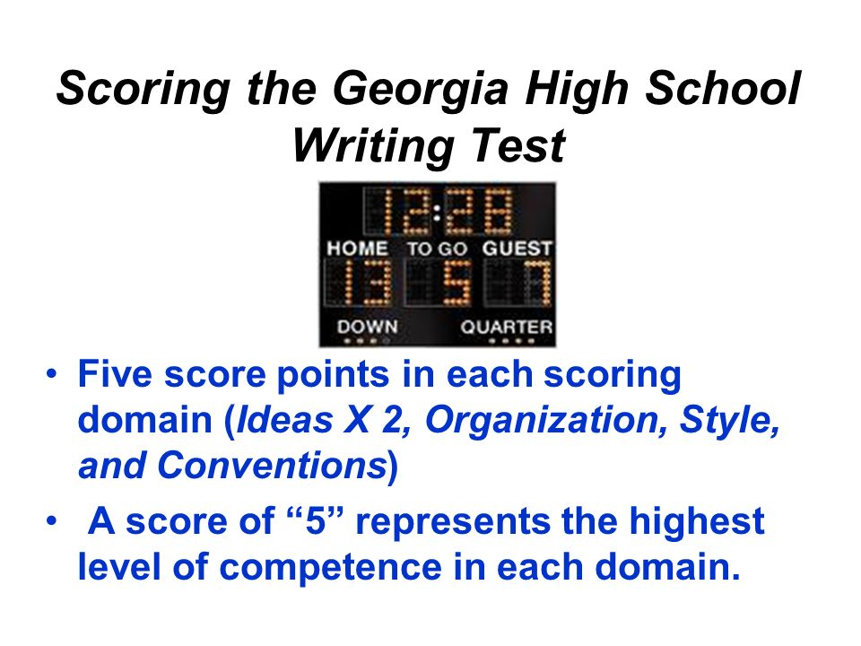 Scoring the Georgia High School Writing Test
