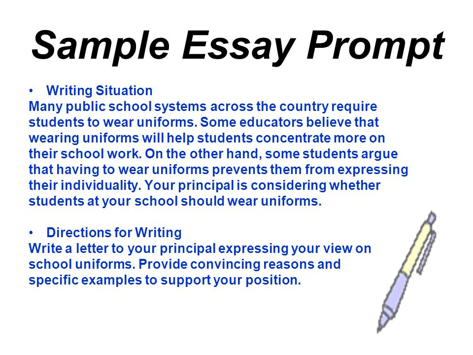 high school graduation writing test ppt video online  sample essay prompt writing situation