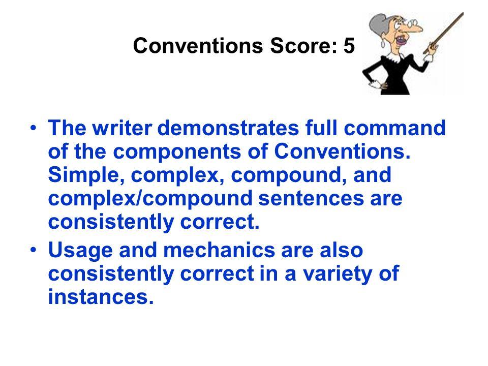 Conventions Score: 5
