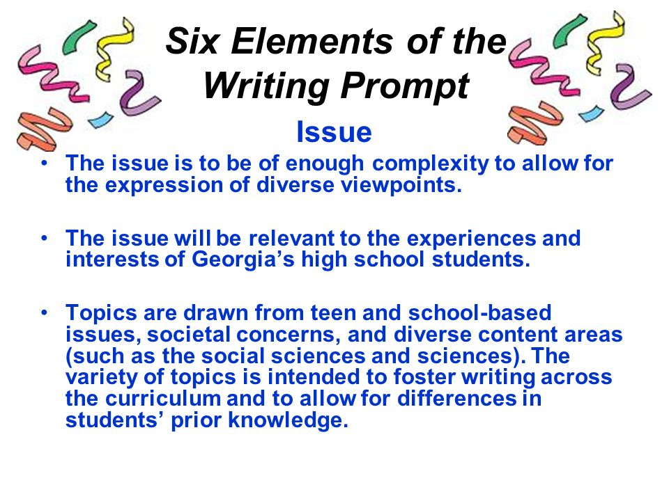 essay writing prompts for high school students