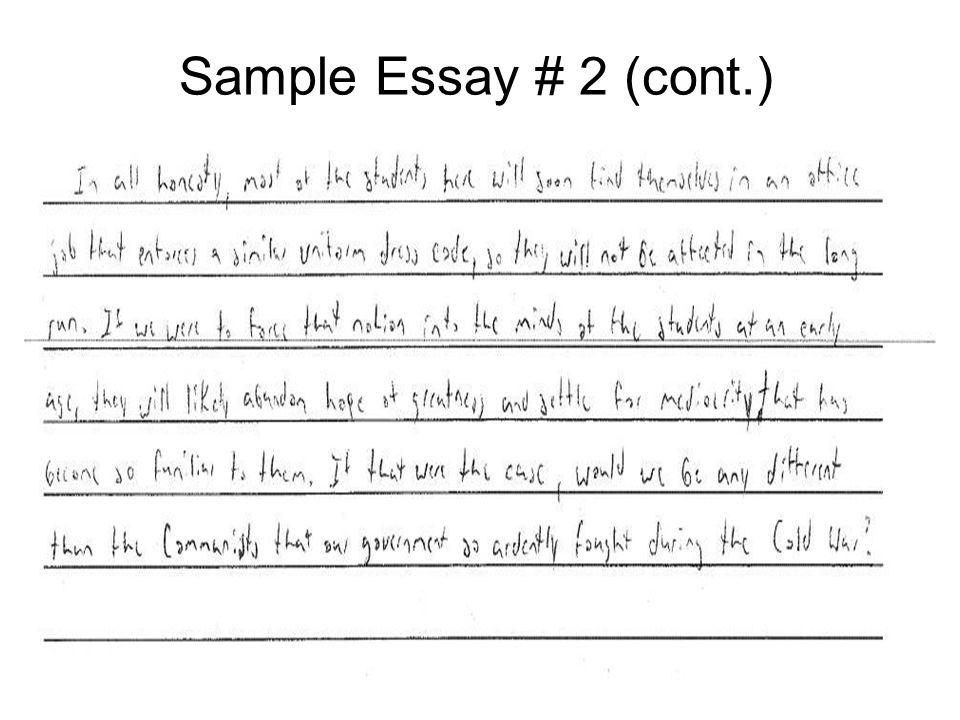 Sample Essay # 2 (cont.)