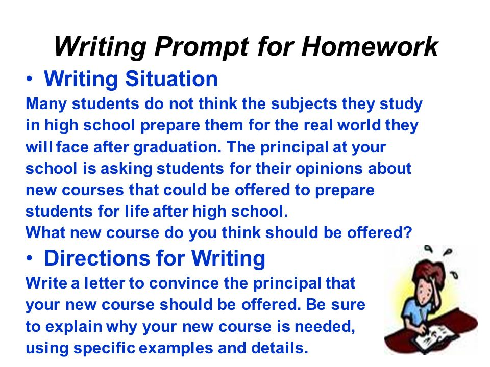 Writing Prompt for Homework