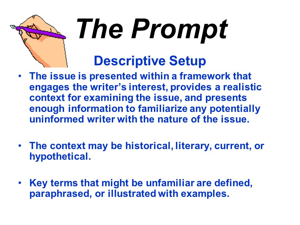 The Prompt Descriptive Setup
