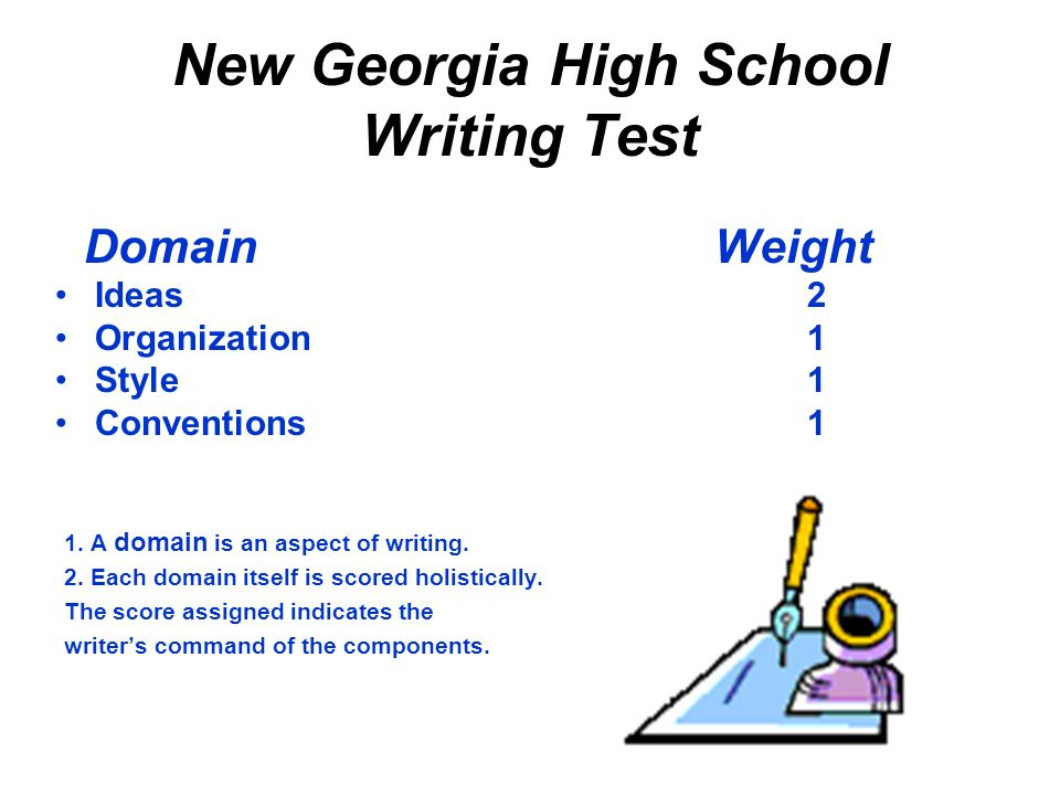 New Georgia High School Writing Test