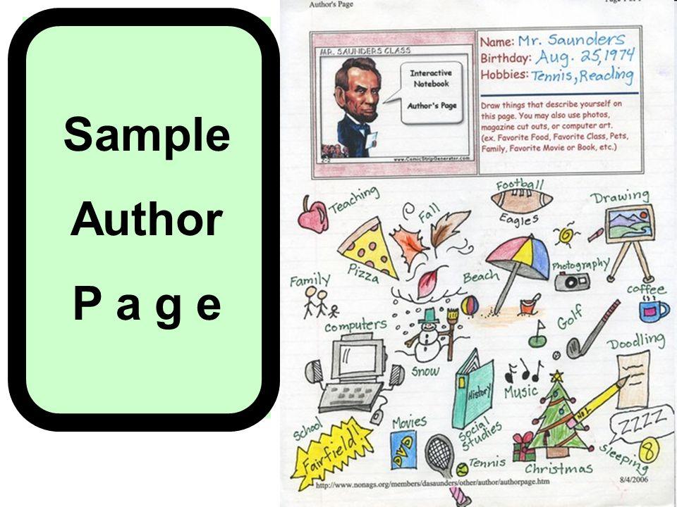 Sample Author P a g e