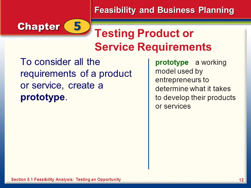 Testing Product or Service Requirements