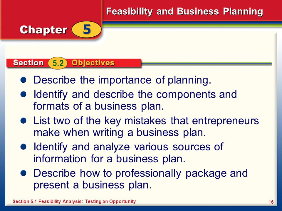 Describe the importance of planning.