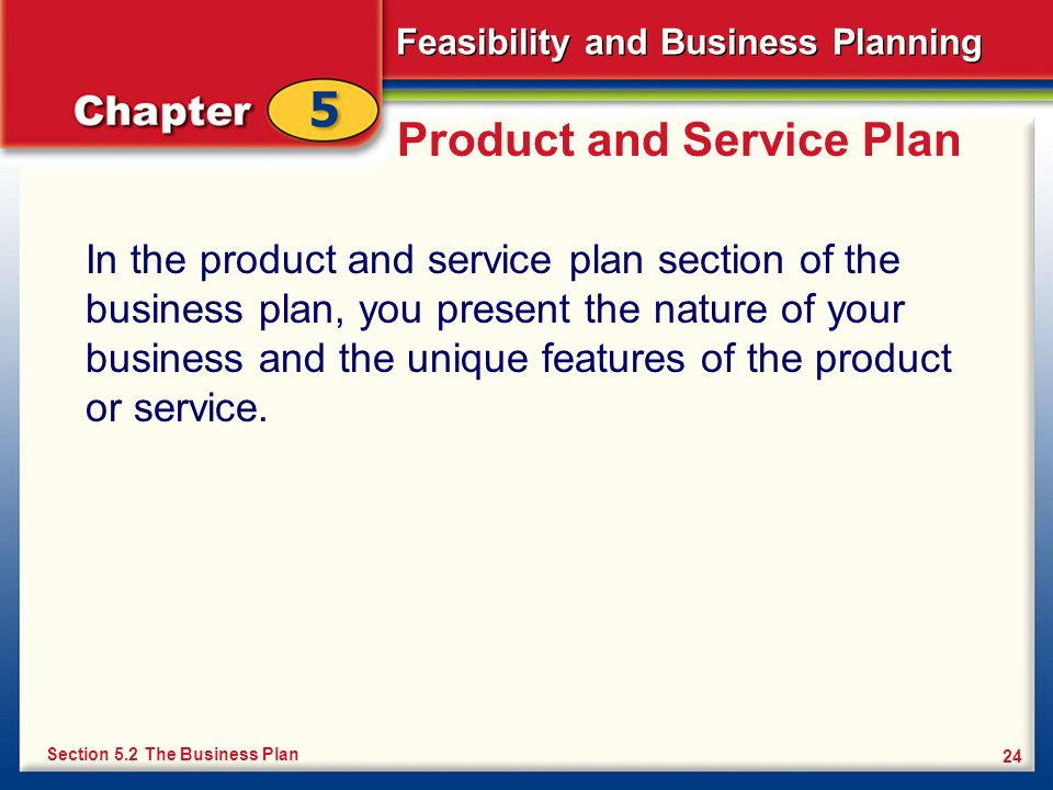 Product and Service Plan