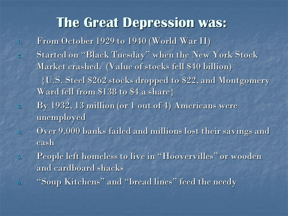 The Great Depression was: