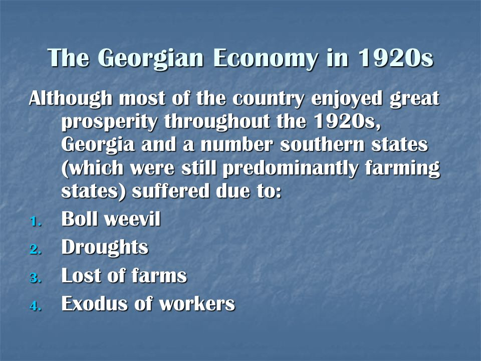 The Georgian Economy in 1920s