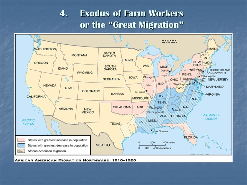 Exodus of Farm Workers or the Great Migration