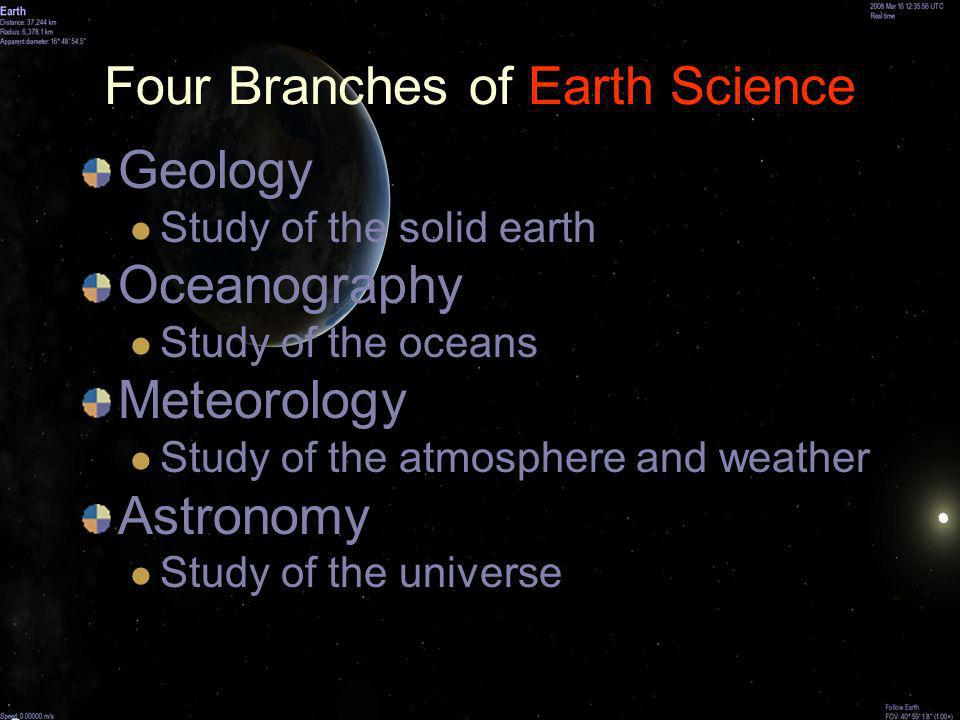 Four Branches of Earth Science