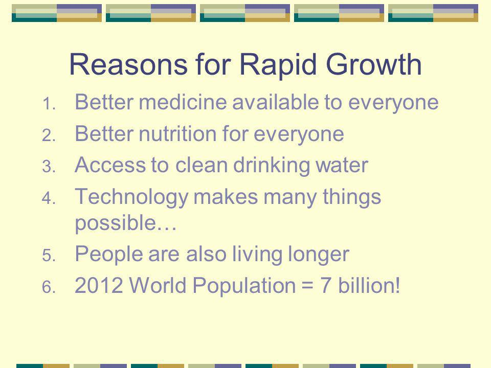 Reasons for Rapid Growth