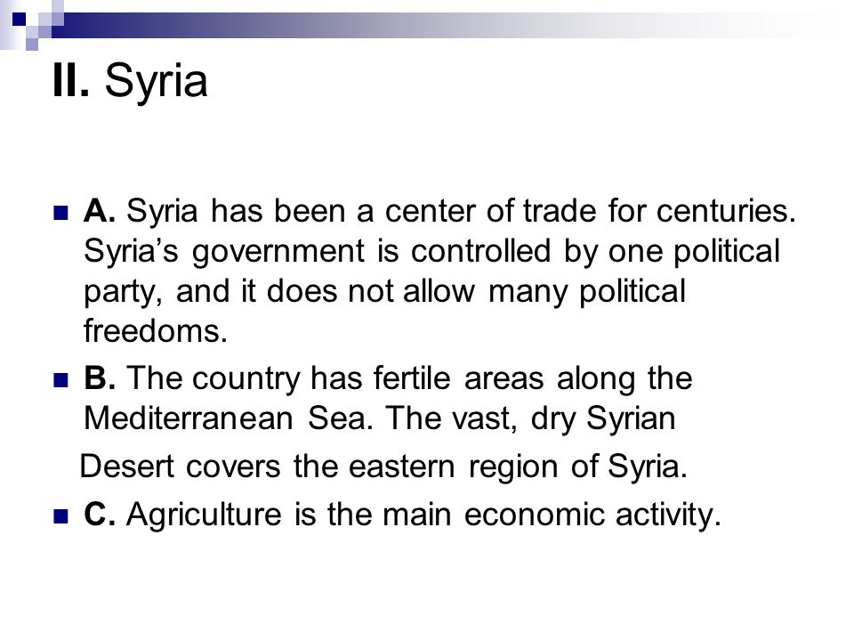 II. Syria