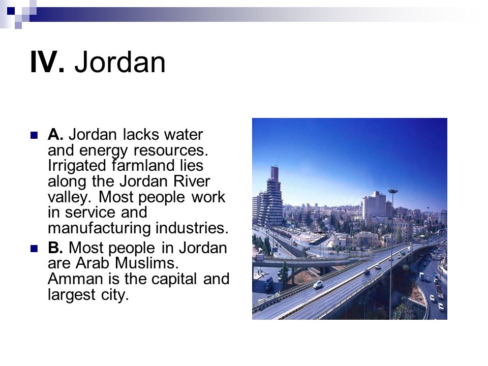 IV. Jordan