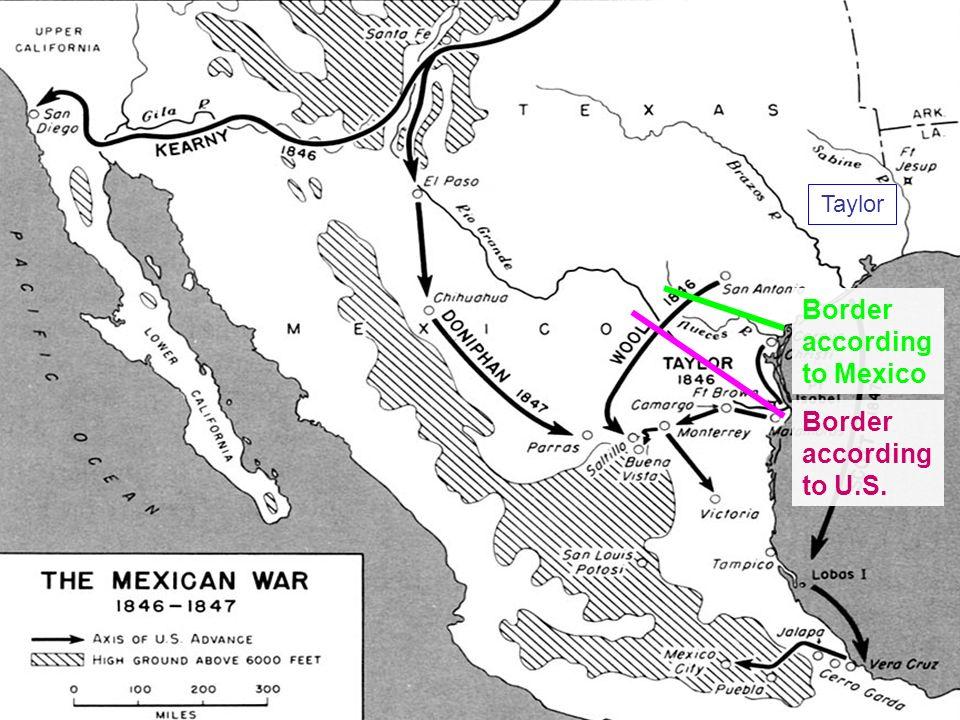 Border according to Mexico