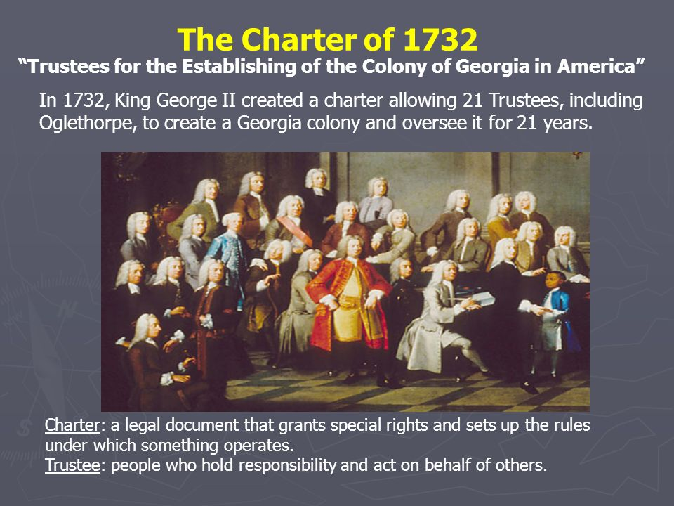 The Charter of 1732 Trustees for the Establishing of the Colony of Georgia in America