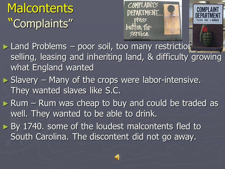 Malcontents Complaints