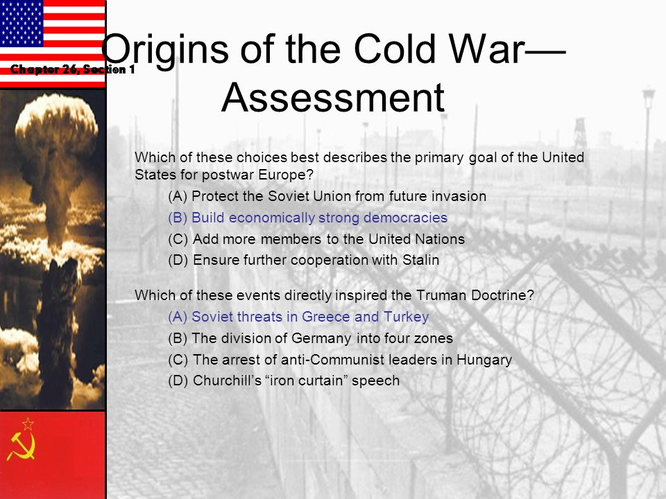 Origins of the Cold War—Assessment