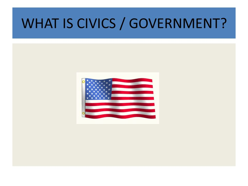 WHAT IS CIVICS / GOVERNMENT