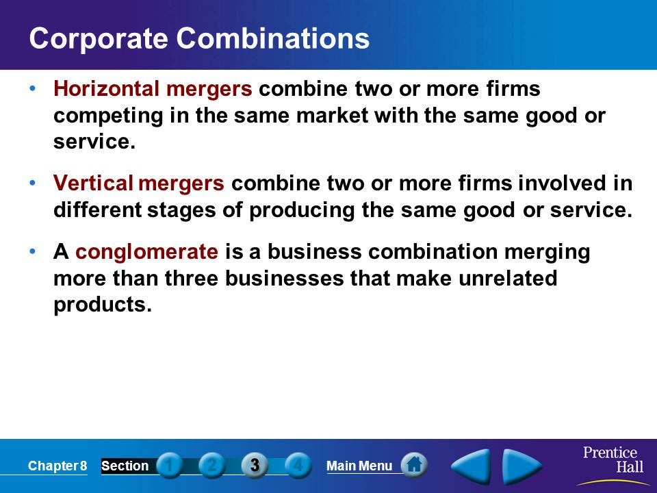 Corporate Combinations