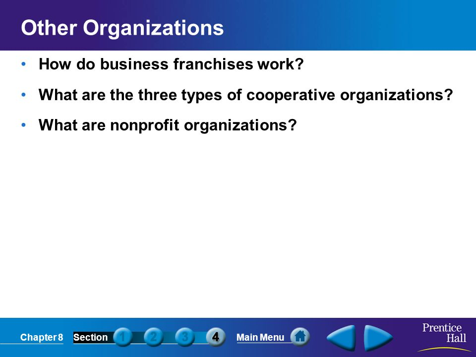 Other Organizations How do business franchises work