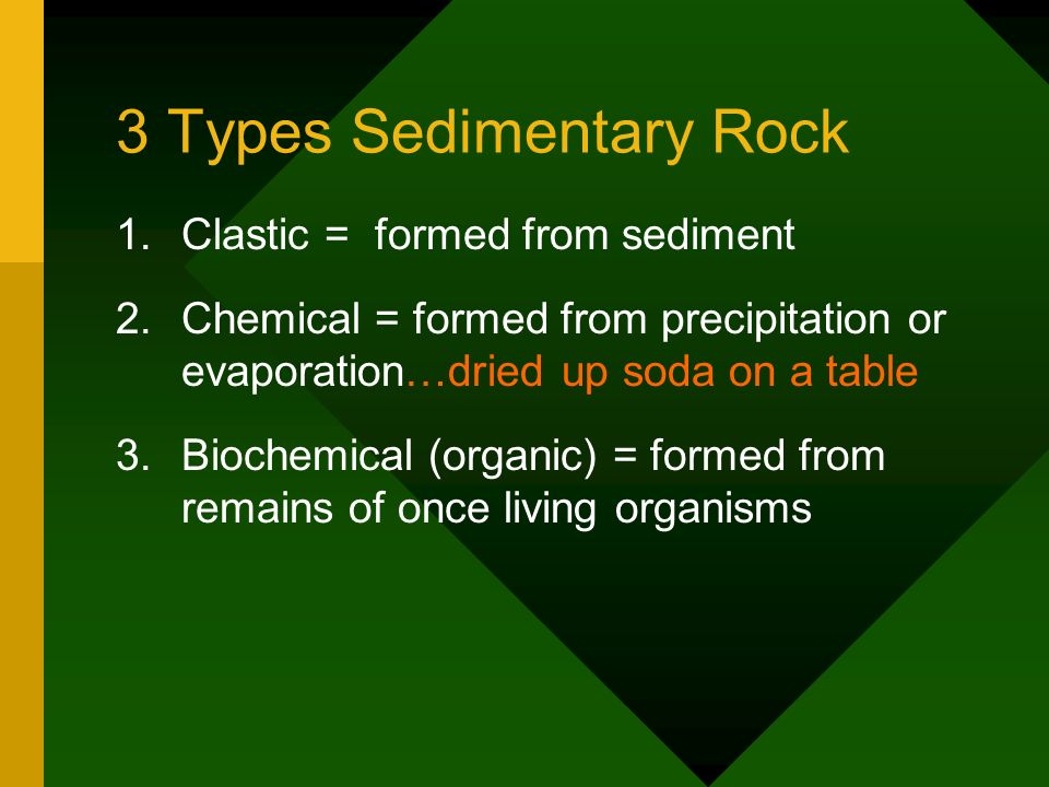 3 Types Sedimentary Rock