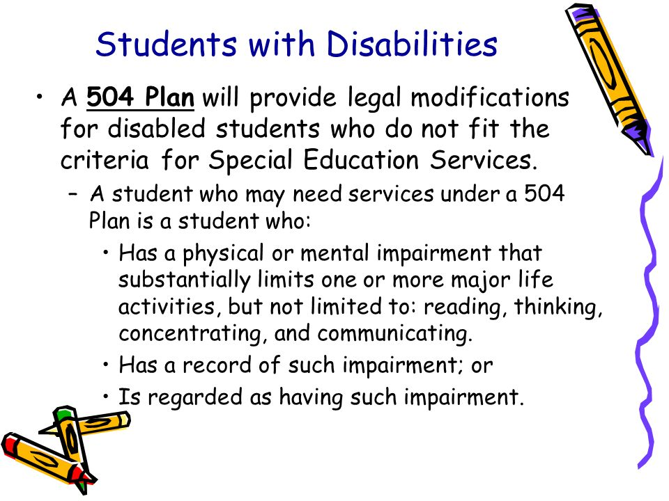 Students with Disabilities