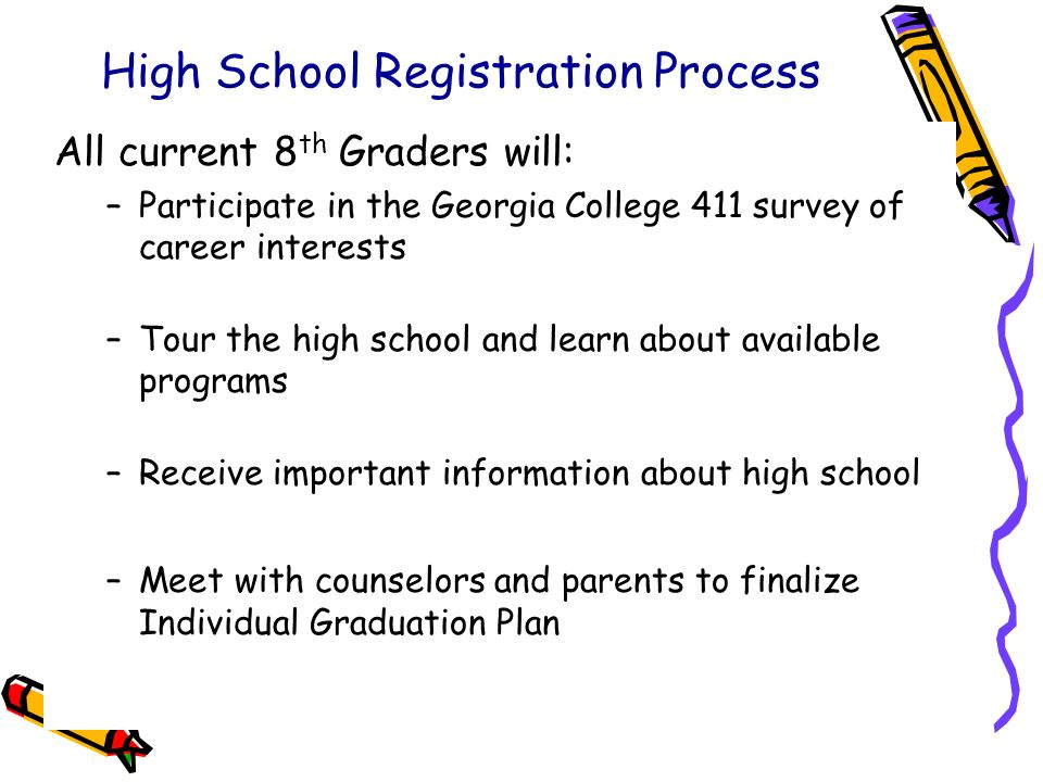 High School Registration Process