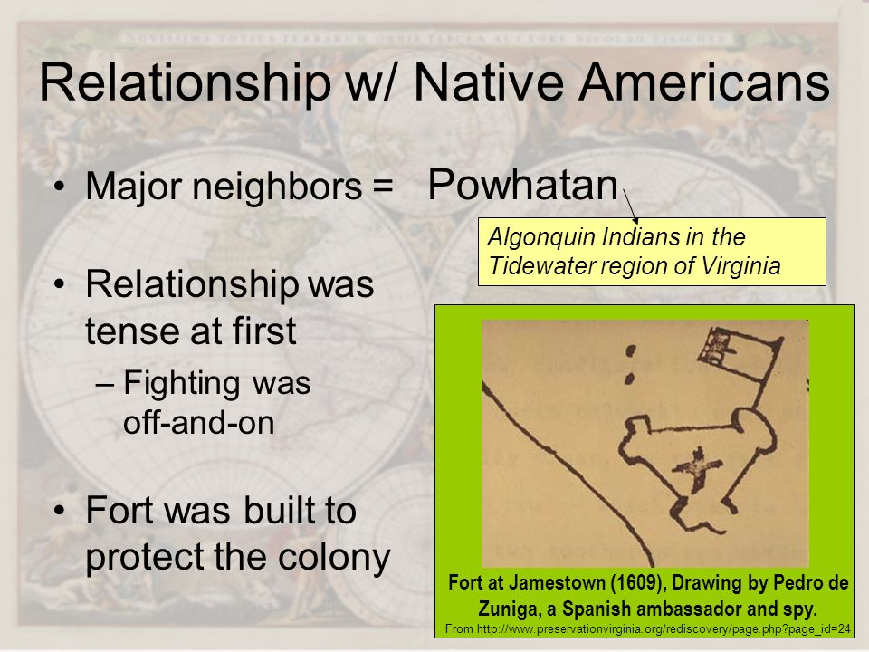 Relationship w/ Native Americans