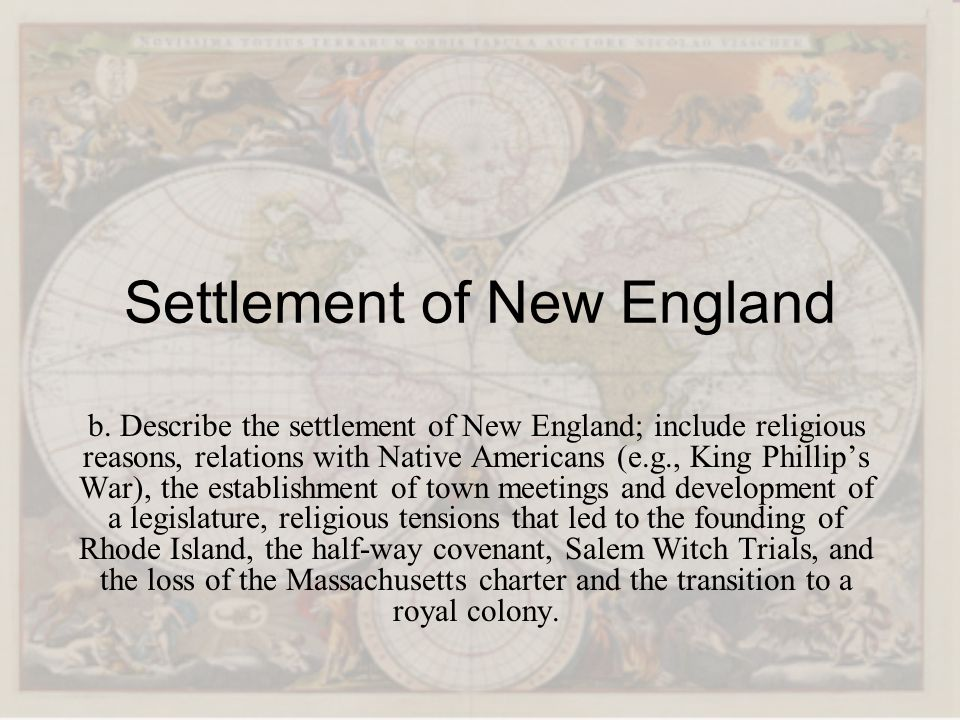 Settlement of New England