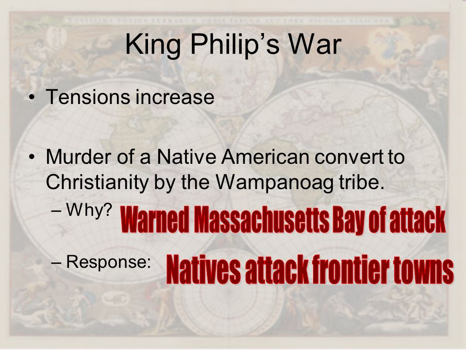 King Philip's War Warned Massachusetts Bay of attack