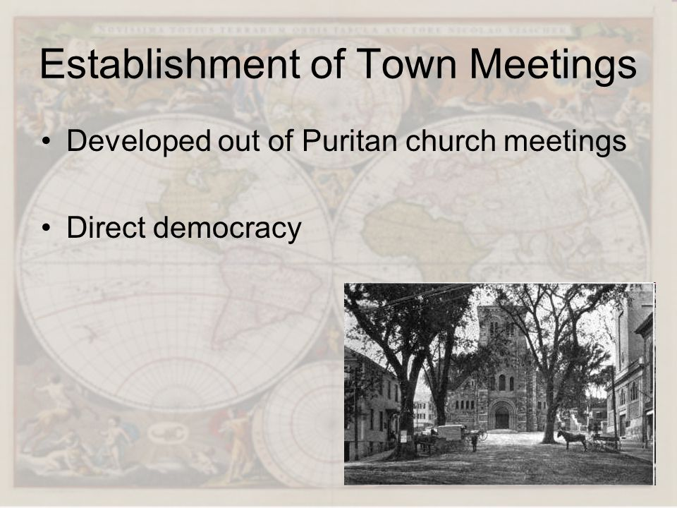 Establishment of Town Meetings