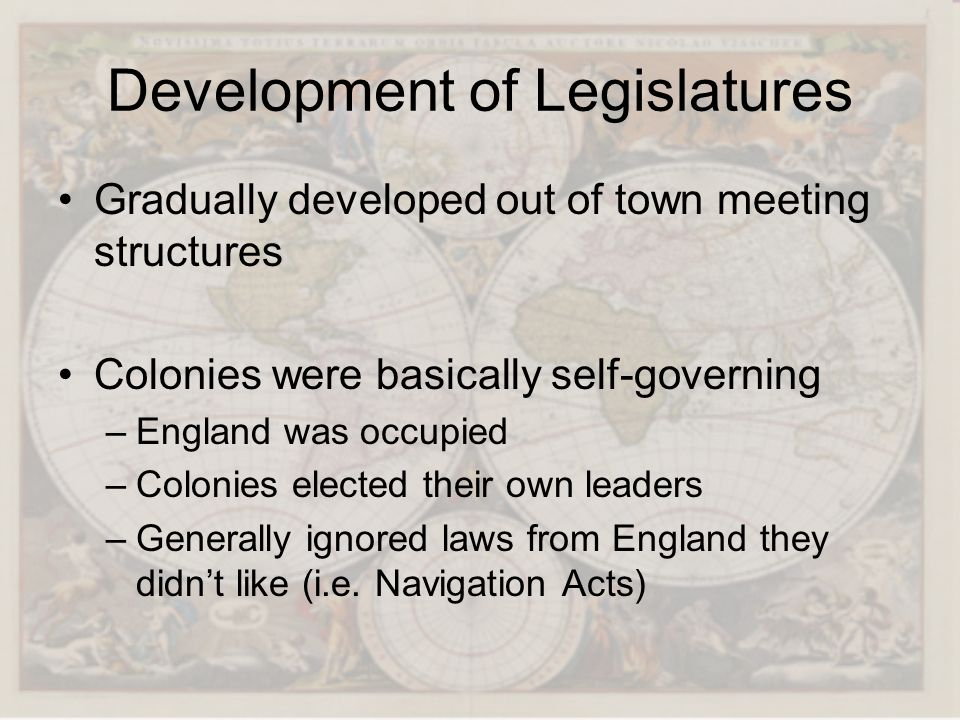 Development of Legislatures