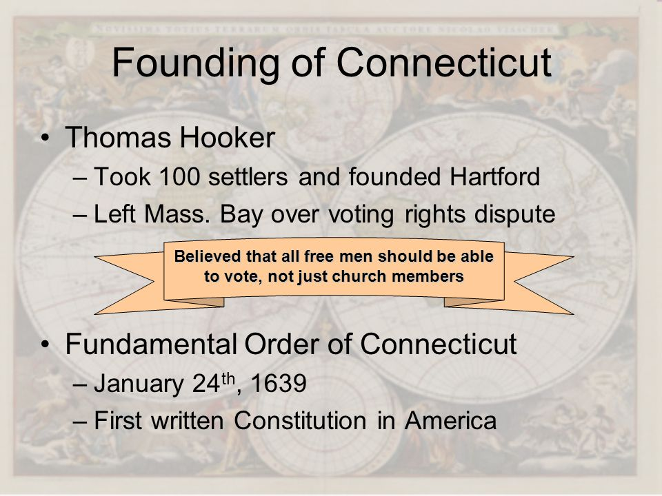 Founding of Connecticut
