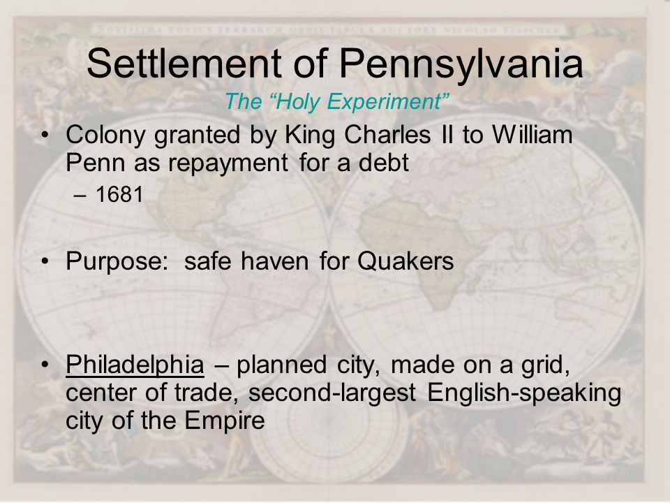 Settlement of Pennsylvania