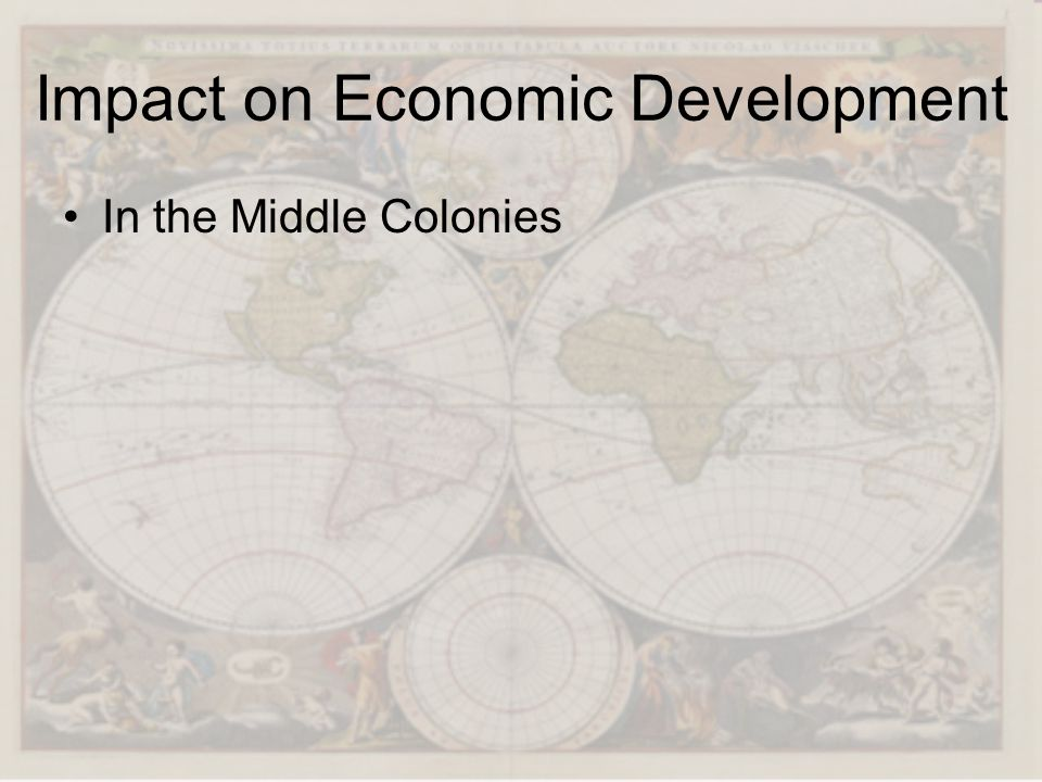 Impact on Economic Development