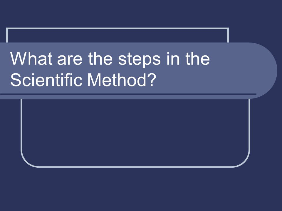 What are the steps in the Scientific Method