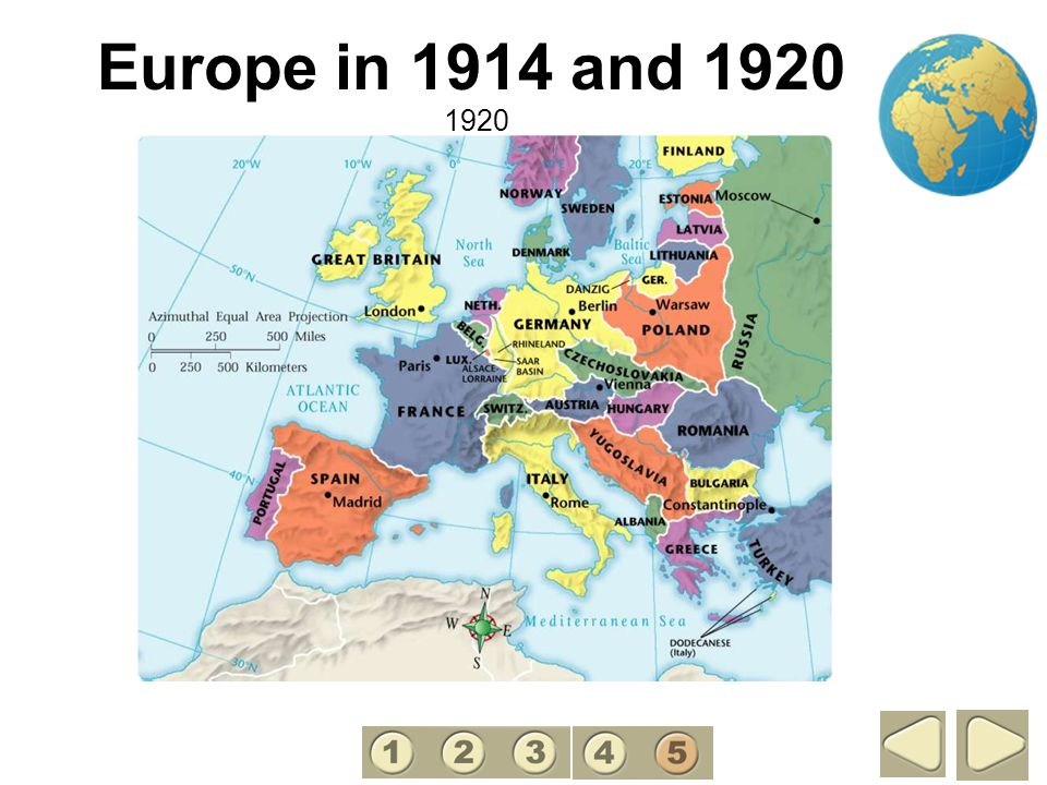 Europe in 1914 and 1920 5 1920