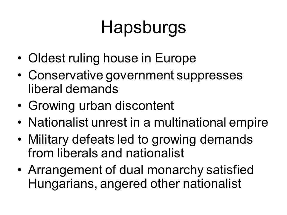 Hapsburgs Oldest ruling house in Europe