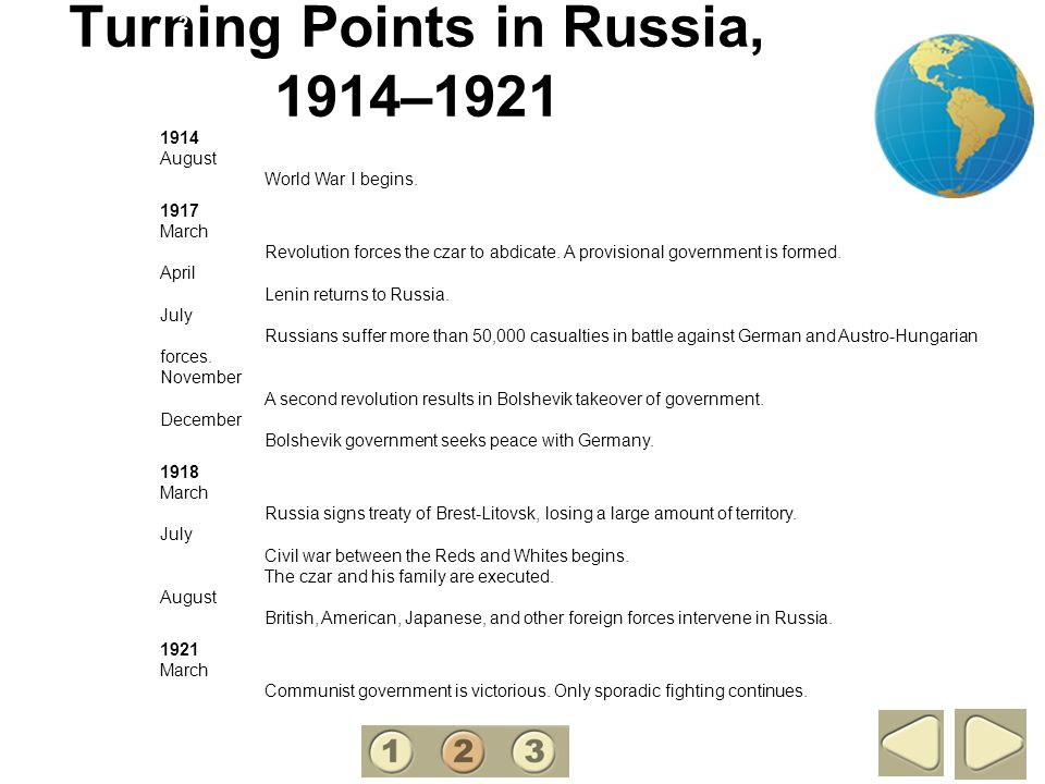 Turning Points in Russia, 1914–1921