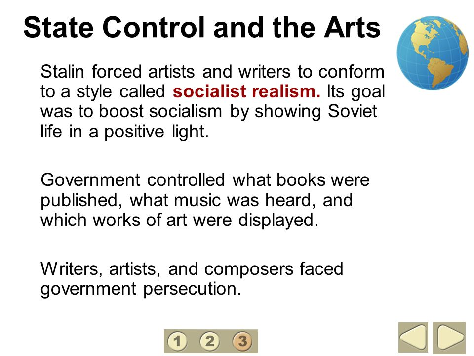 State Control and the Arts
