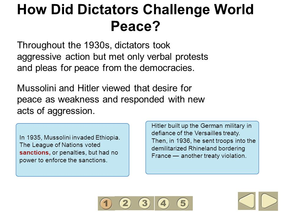How Did Dictators Challenge World Peace