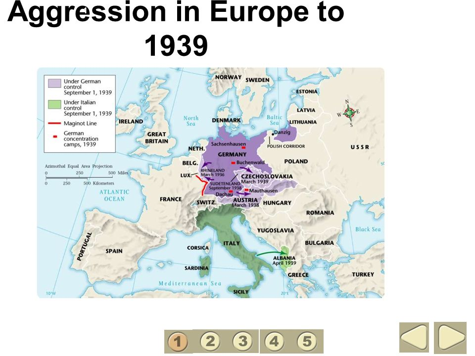 Aggression in Europe to 1939