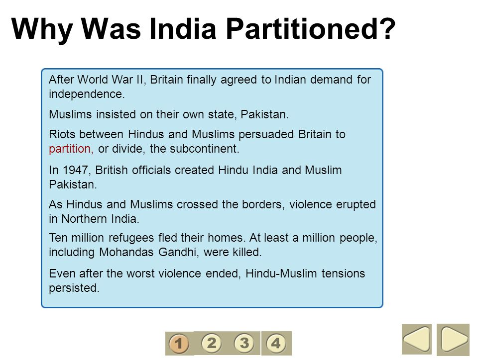Why Was India Partitioned